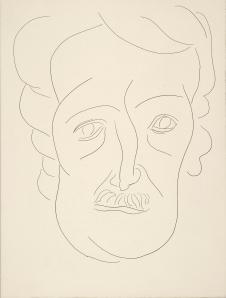 PML 195592 p. 133, Matisse portrait of Edgar Allan Poe for Le Tombeau,  PoeÌsies /  MallarmeÌ, SteÌphane, 1842-1898.   PoeÌsies /  Lausanne : Albert Skira & cie, eÌditeurs , 1932.